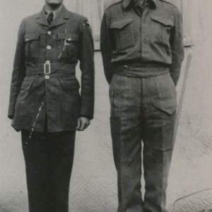 Maurice D. White (right)