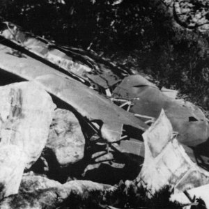 Remains of Horsa DP349,near Fyljesdalen