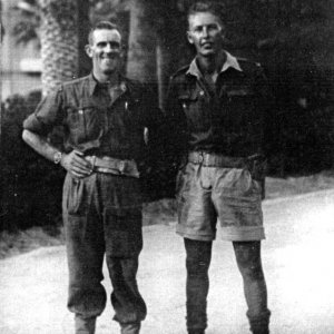 George Waterson (left) with Cyril Uden