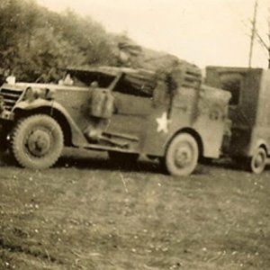A Squadron scout car and trailer