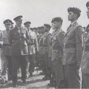 SAS inspection by Sir Bernard Fergusson