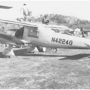 Air America Dornier DO-28,refuelling Laos 1963