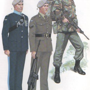 21 and 23 SAS uniforms