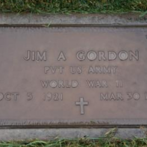 Jim A. Gordon (grave)