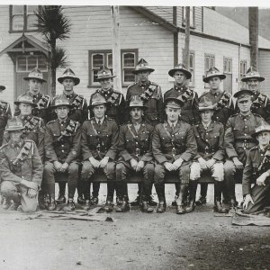 Edgar Sanders (prewar,kneeling 2nd left)